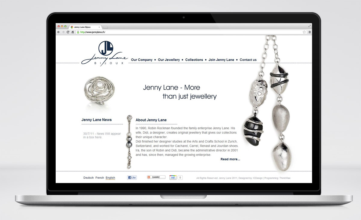 Jenny Lane Bijoux Website